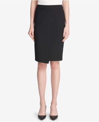 DKNY Asymmetrical Crossover Skirt