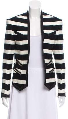 Balmain Structured Striped Jacket