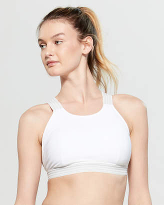 55647489344e Free People White Crossover Back Sports Bra