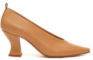 Bottega Veneta Block Heel Leather Pumps - Womens - Nude