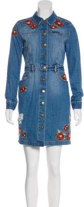 House of Holland + Lee Embroidered Denim Dress