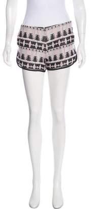 Thakoon Embroidered Mini Shorts