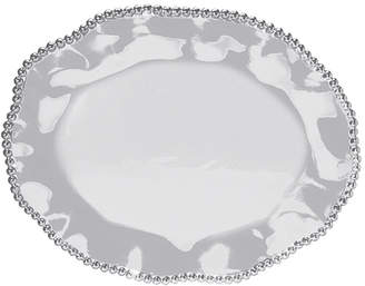 Mariposa Pearled Wavy Oval Platter