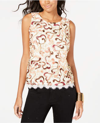 Thalia Sodi Embroidered Lace Top