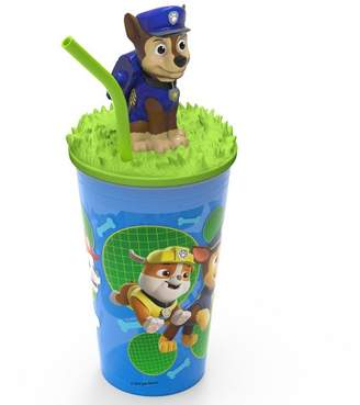 Zak Designs PAW Patrol Marshall 15oz Plastic Cup With Lid And Straw Blue/Green