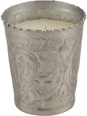 Lifestyle Traders Sahil Small Vanilla Scented Candle In Polished Silver Metal Votive