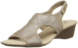 Anne Klein Sport Women's Olimpia Fabric Wedge Sandal