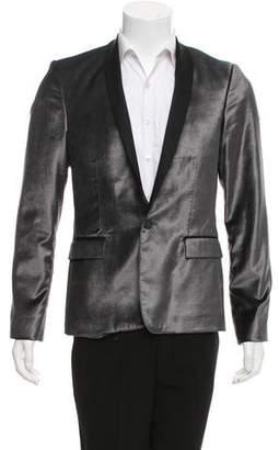 CNC Costume National Velvet Shawl-Lapel Blazer