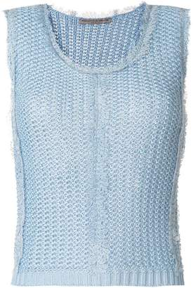 Ermanno Scervino picot trim knitted vest top