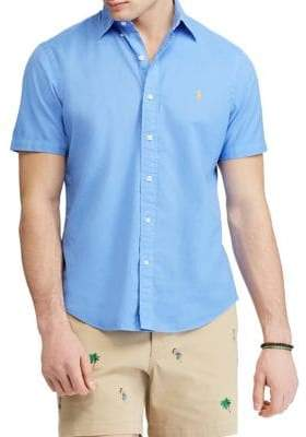 Polo Ralph Lauren Big and Tall Classic-Fit Cotton Twill Sport Shirt