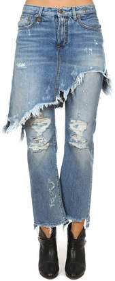 R 13 Double Classic Shredded Jean