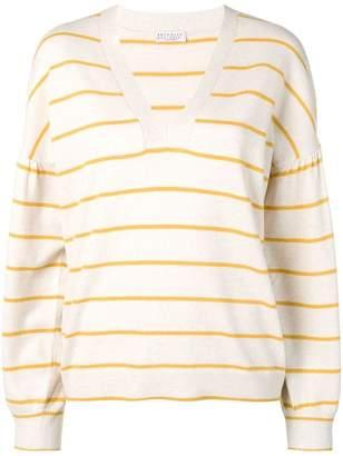 Brunello Cucinelli cashmere blend striped jumper