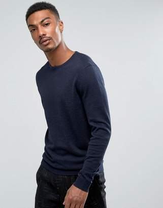 Selected Crew Neck Knit In Cotton Silk