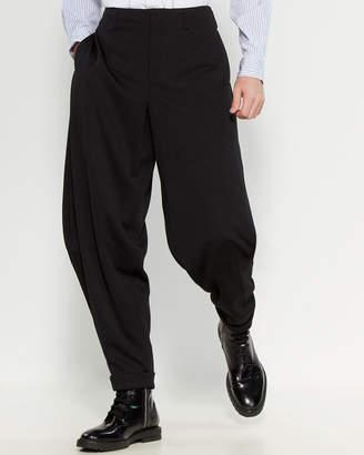 Comme des Garcons Black Cuffed Hem Pants