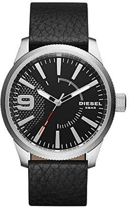 Diesel Men's DZ1766 Rasp Stainless Steel Leather Watch