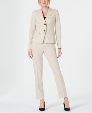 Le Suit Petite Pinstriped Pants Suit