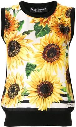Dolce & Gabbana sunflower print tank top