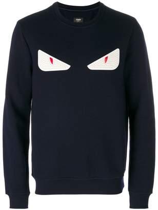 Fendi Eyes embroidered sweater