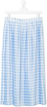 Lanvin Enfant TEEN printed pleat long skirt