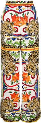 Dolce & Gabbana leopard print palazzo pants