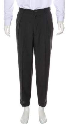 Giorgio Armani Cropped Wool Cuffed Pants