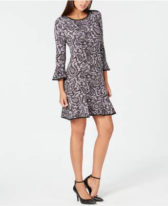 Michael Kors Paisley-Print Flounce Dress
