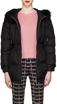 Prada Women's Fur-Trimmed Puffer Coat - Black