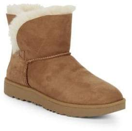 UGG Classic Cuff Mini Suede & Shearling Boots