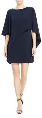Halston Cape Sleeve Capelet Dress