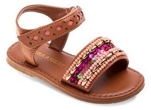 Laura Ashley Toddler Girls' Beaded Sandals $34.99 thestylecure.com