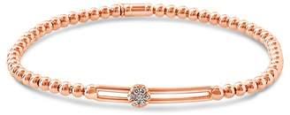 Hulchi Belluni 18K Rose Gold Tresore Diamond Single Station Stretch Bracelet