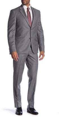 Nordstrom Rack Two Button Notch Lapel Linen Trim Fit Suit