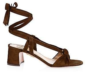Aquazzura Women's Delicieuse Suede Sandals