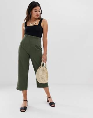 Miss Selfridge high waisted khaki pants