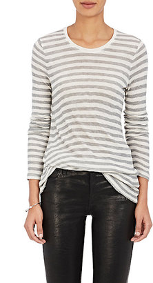 ATM Anthony Thomas Melillo Women's Striped Soft Jersey Long-Sleeve T-Shirt $175 thestylecure.com