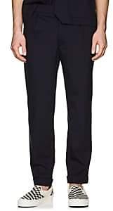 Barena Venezia Men's Virgin Wool Cuffed Trousers - Navy