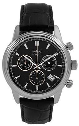 "Rotary Les Originales"" Monaco Men's Quartz Chronograph Watch Leather Strap Splashproof GS90125/04"