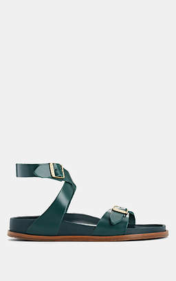 Birkenstock Women's Delphi Leather Ankle-Strap Sandals - Green