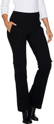 Women With Control Women with Control Petite Tummy Control Pull-On Boot Cut Cargo Pants