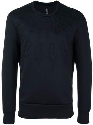 Neil Barrett embossed lightning bolt sweatshirt
