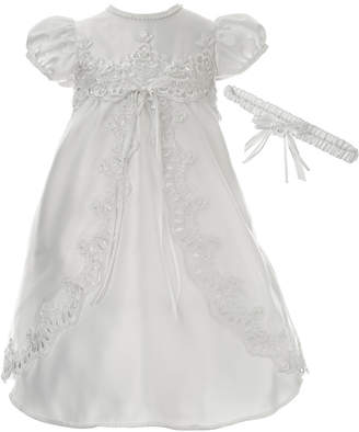 df1de154a92 Lauren Madison Baby Girls 2-Pc. Christening Dress   Headband Set