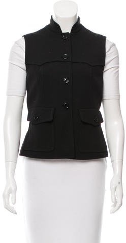 prada Prada Knit Mock Neck Vest