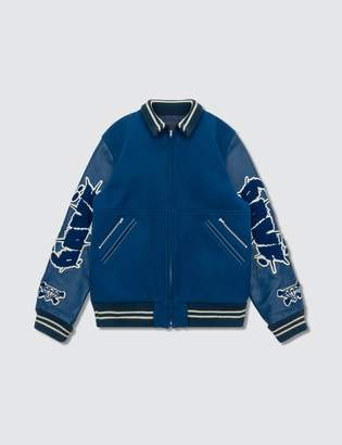 Undercover Davf Leather Sleeves Jacket
