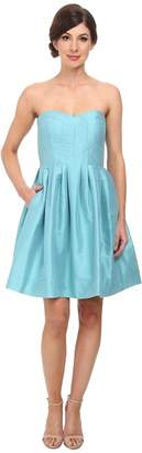 Donna Morgan Madison Seamed Bodice Strapless Shantung Women's Dress