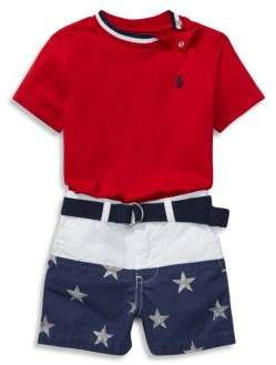 Ralph Lauren Baby's Two-Piece Cotton Tee and Shorts Set
