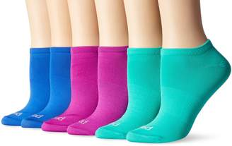 Peds Women's Soft and Lightweight Low Cut Socks with Arch Support, 6 Pairs