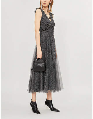 Christopher Kane Sequin-embellished tulle midi dress