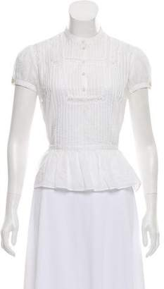 Marc by Marc Jacobs Embroidered Short Sleeve Top