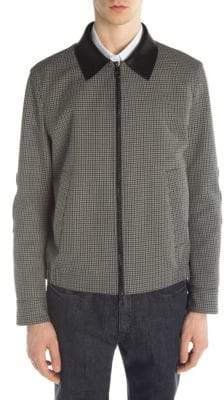 Neil Barrett Cotton& Virgin Wool-Blend Harrington Jacket