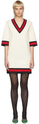 Gucci Off-White Short Webbing Dress
